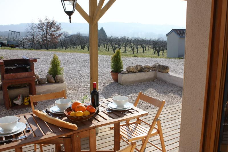 Outside Covered Terrace with BBQ and beautiful views for Alfresco dining.