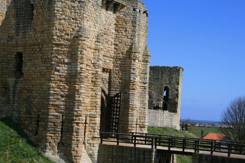 Warkworth Castle built approx in the mid 12th century, this is the enterance
