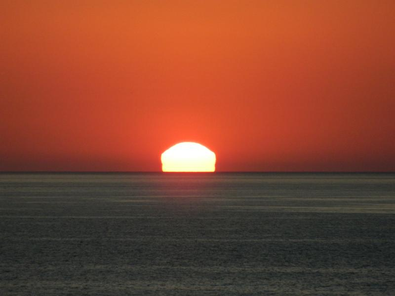 view of sunset from the villa