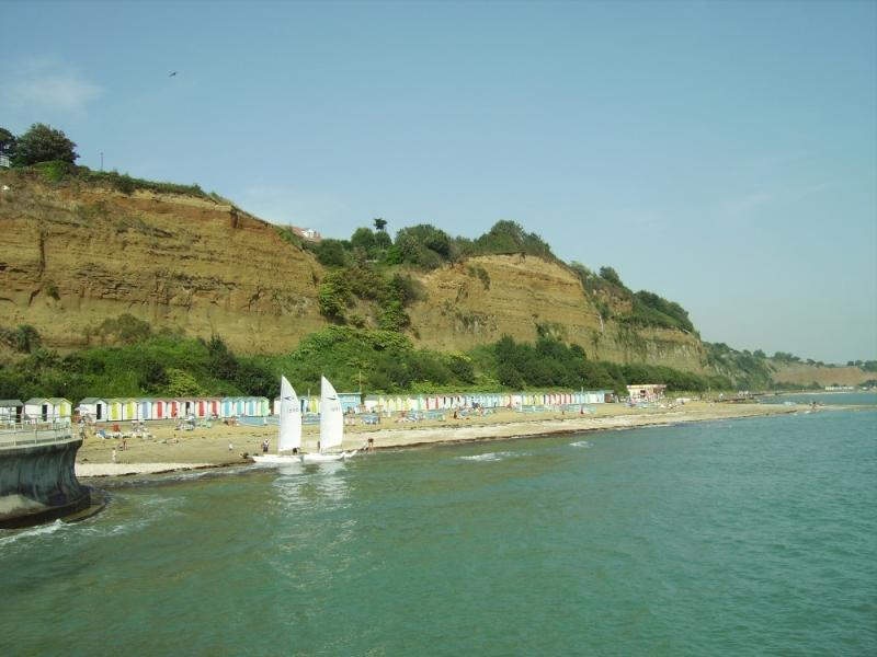 Small Hope beach, home to the Shanklin Sailing Club, Shanklin Rowing Club and water activities