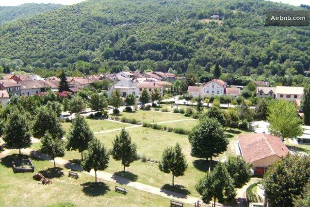 The village of Bouillac in Aveyron as seen from the chateau. Only 30 mins to Rodez airport.