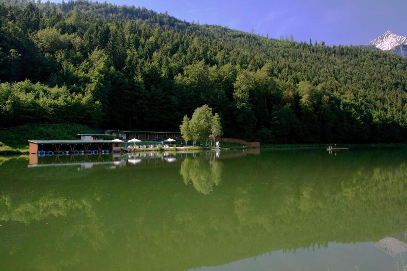 Swimming at lake Rießersee