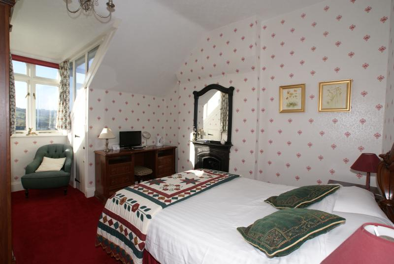 Room 6 Double En-suite. South facing with stunning views over the Derwent Valley