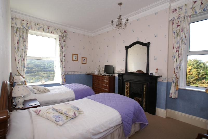 Room 2 South facing as a Twin En-suite. Stunning views over the Derwent Valley