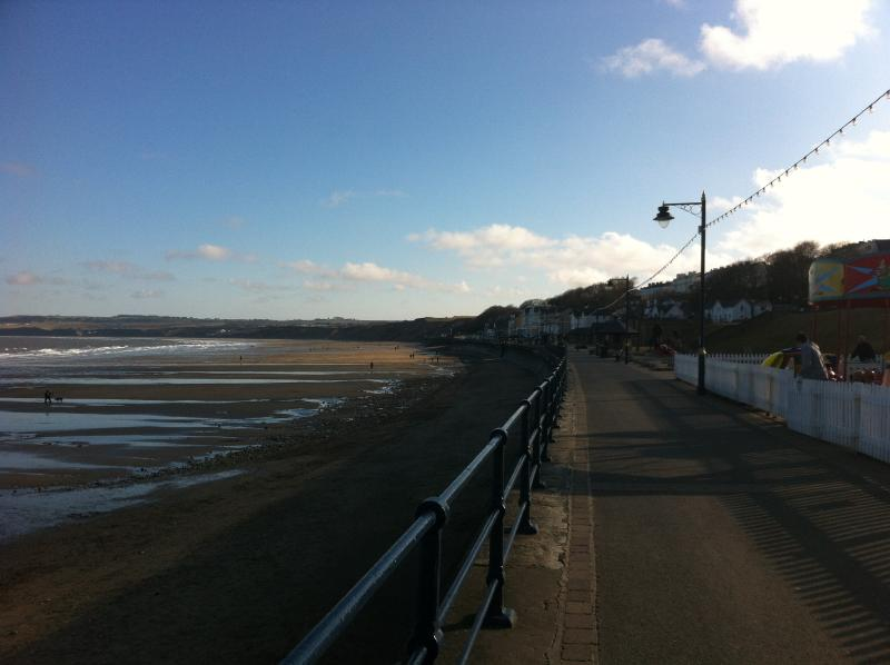 filey seafront and the beach