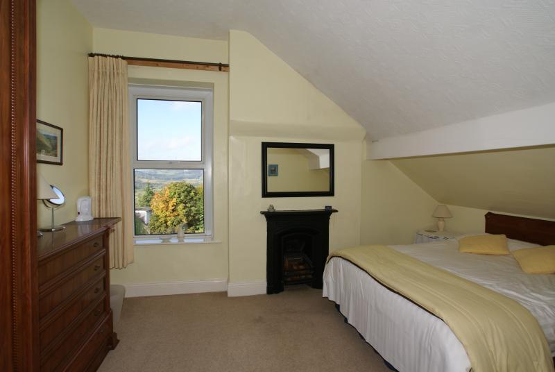 Room 5 Double En-suite. West facing with stunning views over Stanton Moor.