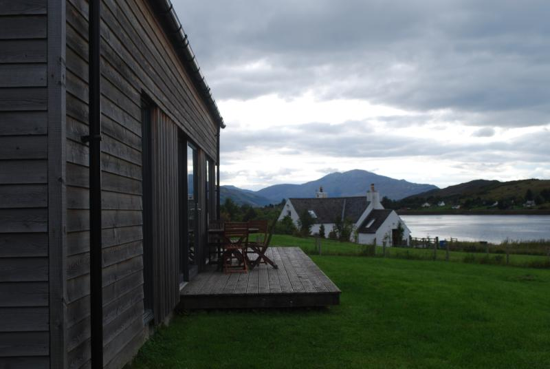 Larchwood deck looking towards Skye