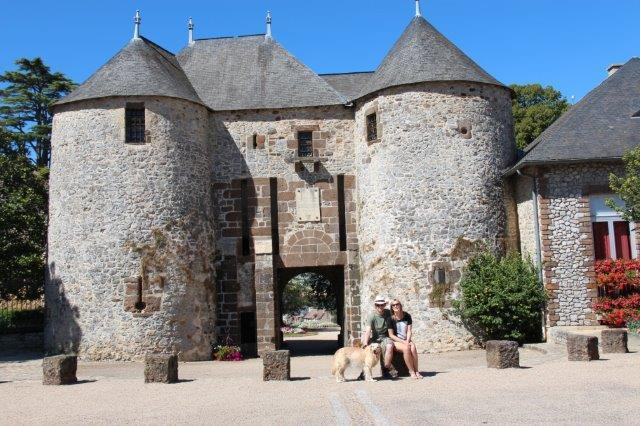 The medieval chateau at Fresney sur sarthe - a pretty small town with market and cafes.