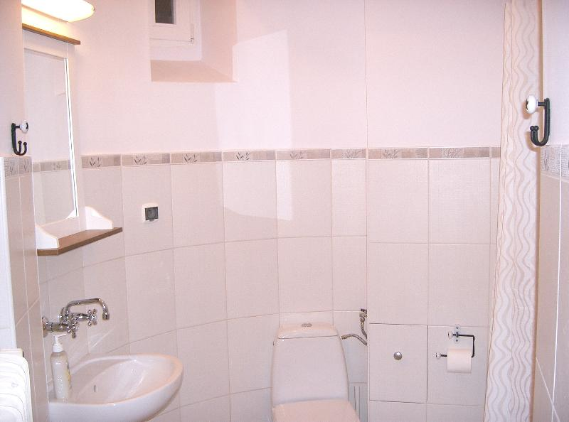 The bathroom comes with shower and bath and is located within the turret