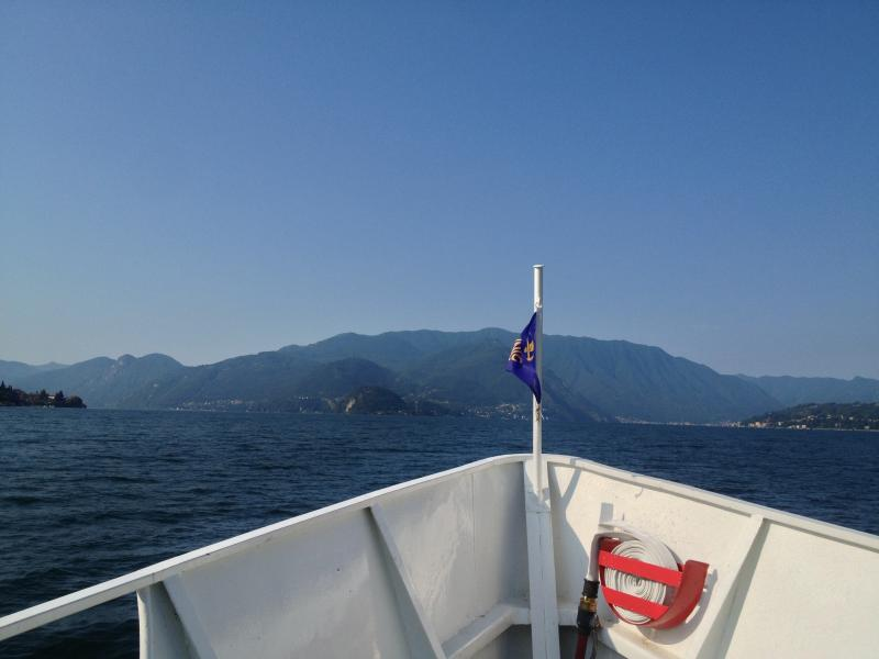 touring by boat on the lake Como....