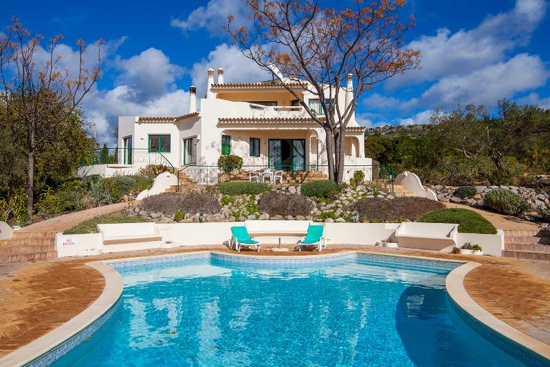 Villa overlooking the large swimming pool with heating available