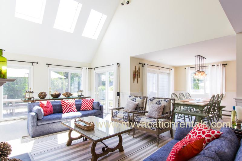 Living Room Opens to Expansive Deck