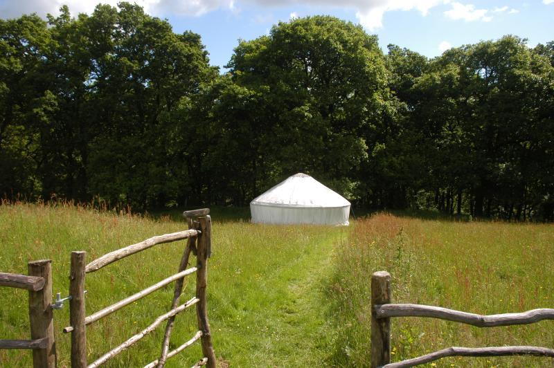 Path down to Yurts