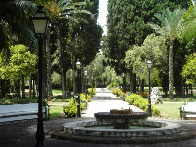 view from the park at Marbella
