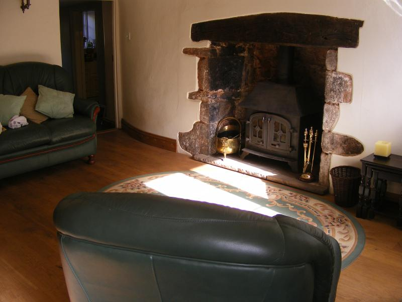 Lounge with wood burner
