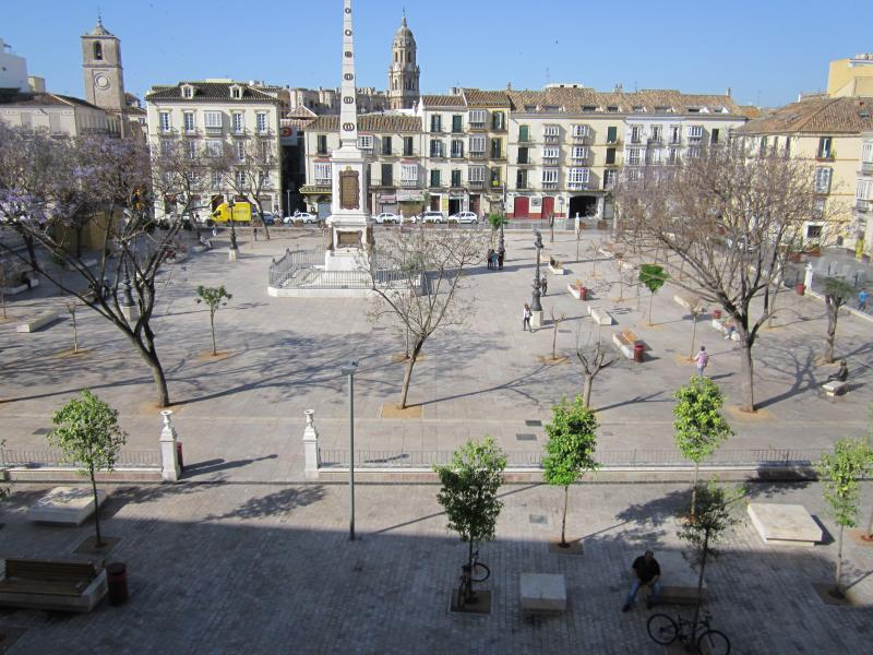 Plaza Merced where the apartment is located