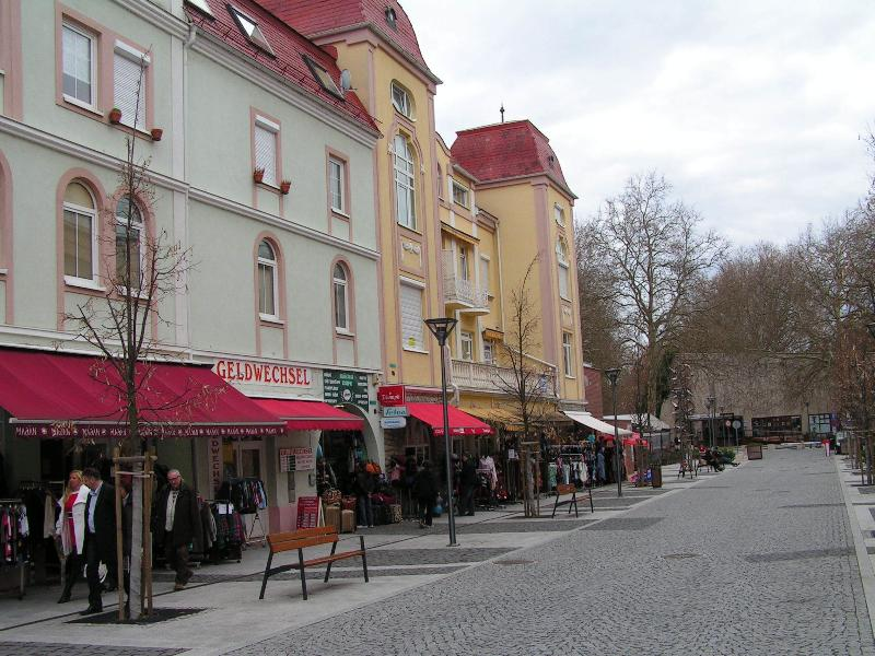 Street view of the apartment, directly from the pedestrian zone of Hévíz