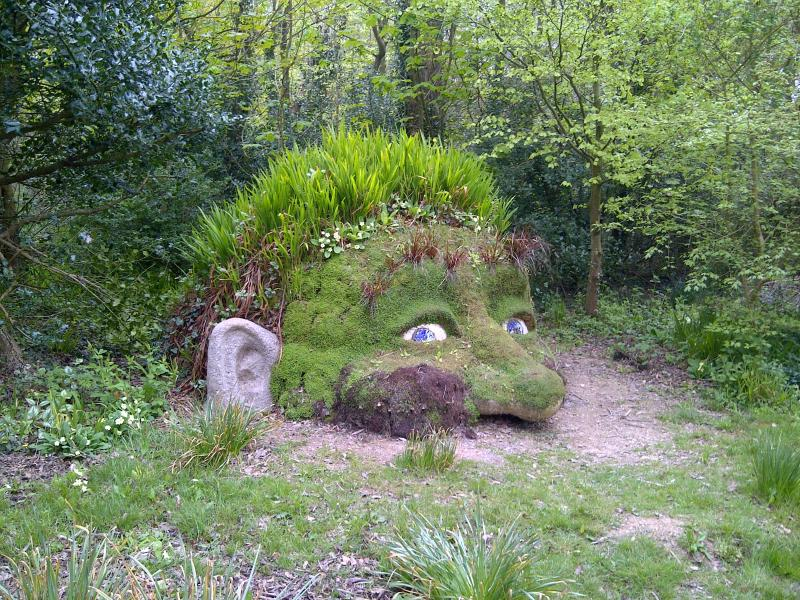 The Giants Head in the Lost Gardens of Heligan 20 minute drive from the cottage