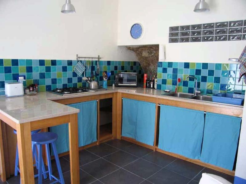 Guests' flat cooking area