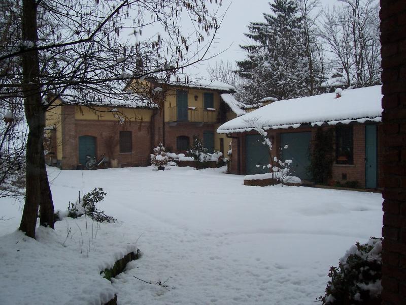 La cabaña bajo la nieve
