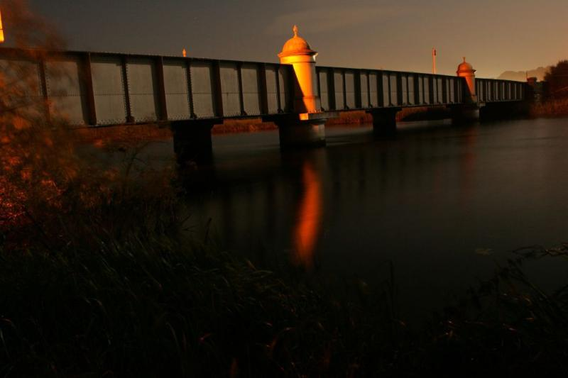Portumna bridge at night