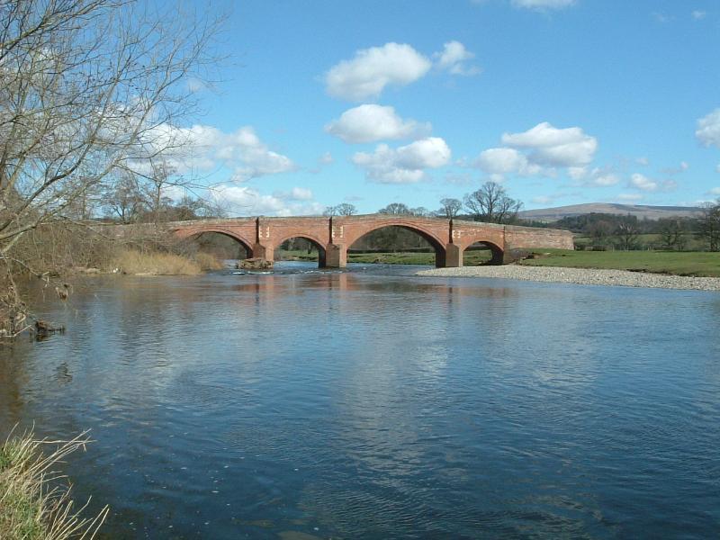 Lazonby Bridge on the River Eden