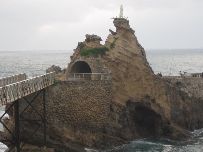 the rock of the Virgin in BIARRITZ