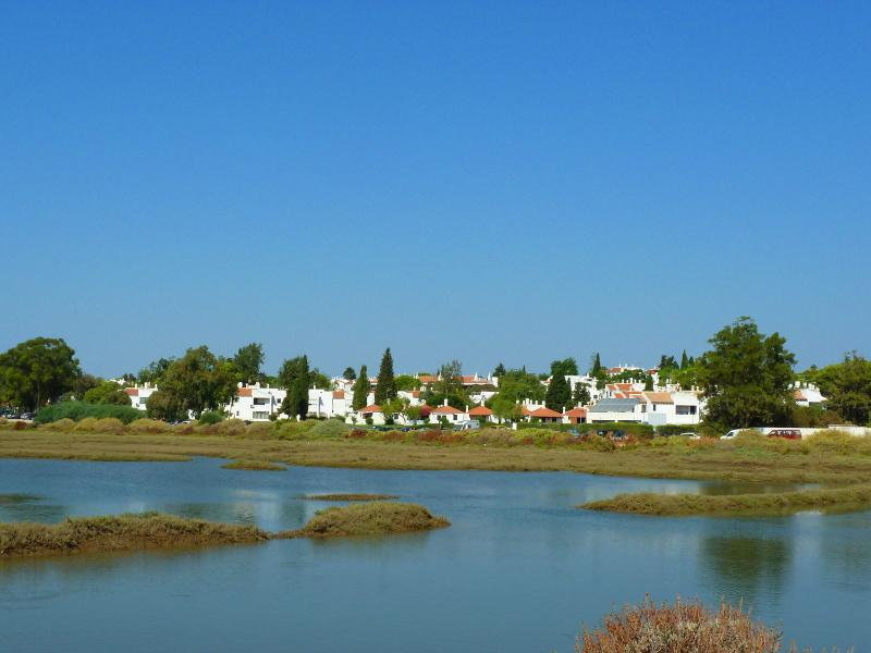 General View of The Resort with the river in front. Photo taken from Tavira's Island