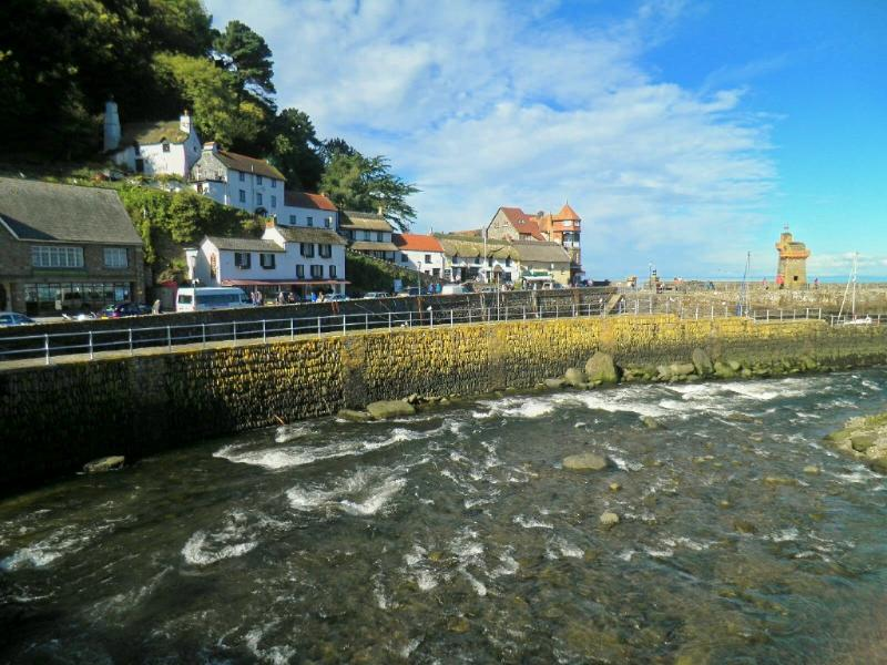 Picturesque Lynmouth Harbour nearby