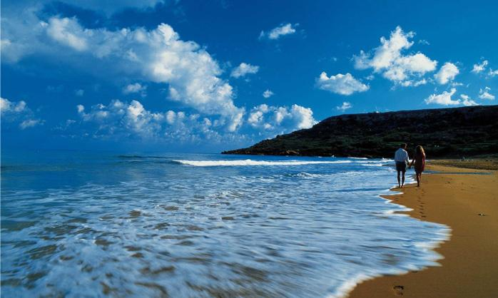 Ramla Bay with its famous crystal clear water. Welcome to the apartment and to beautiful Gozo!
