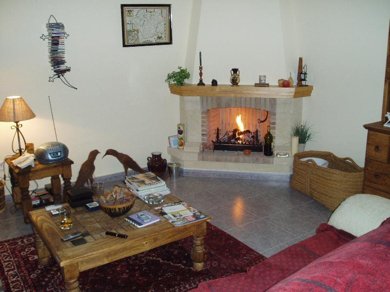 Lounge with log fire - not needed often!