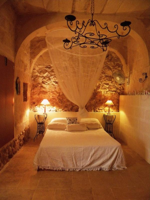 The romantic bedroom in the 400 year old section of the farmhouse - DHY 1