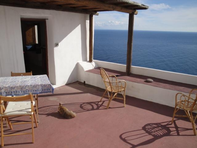 a terrace on the sea, Alicudi, holiday rental in Aeolian Islands
