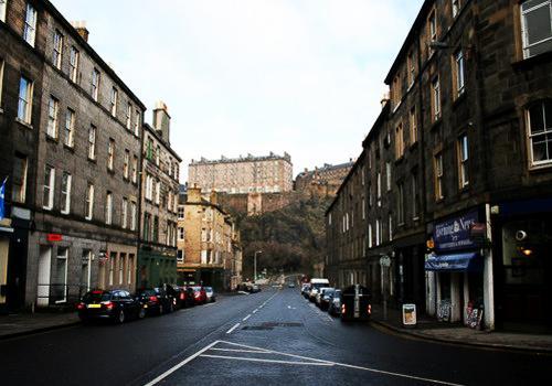 Edinburgh Castle from Bread Street