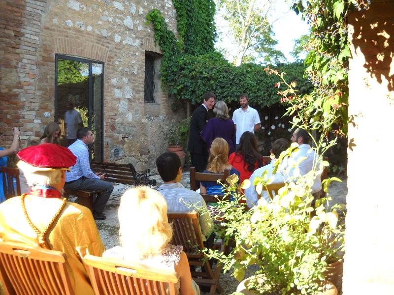 a nice wedding in our patio
