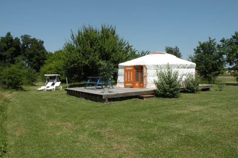 Our Yurt, can be rented in addition for larger groups, please ask for price.