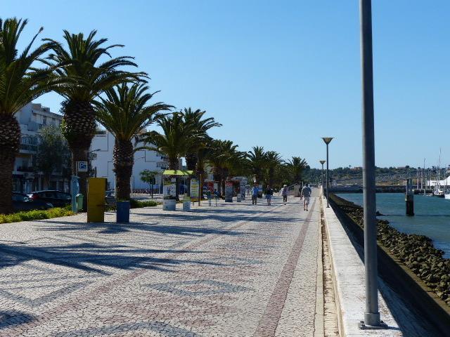 Town and marina walk way