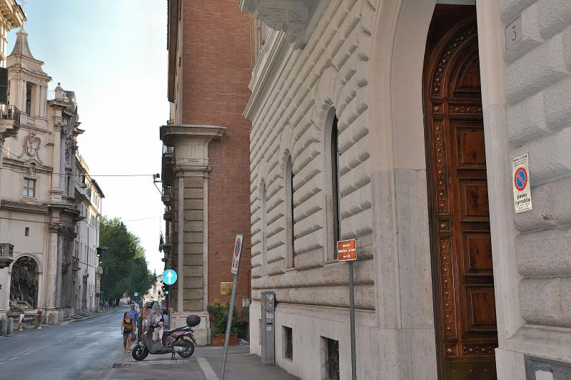 exterior of the building on via Venti Settembre