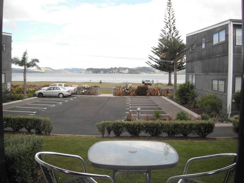 Enjoy beach views from the deck