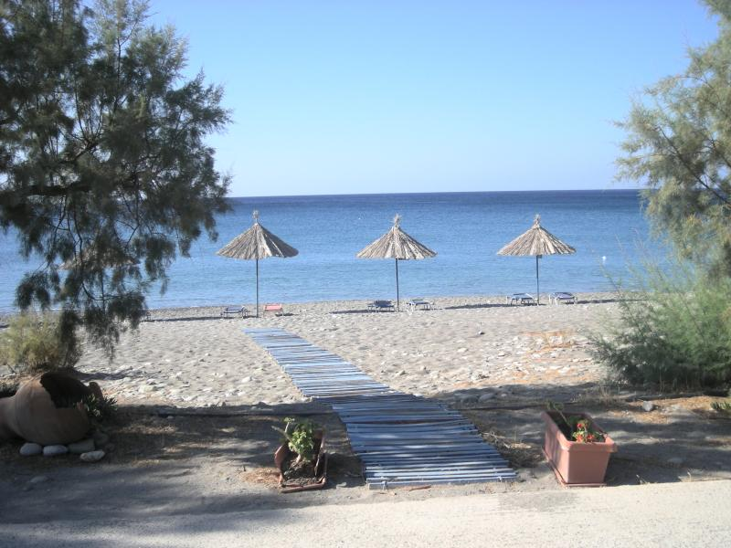 Enjoy local taverna hospitality and the sunbeds are yours to use for free