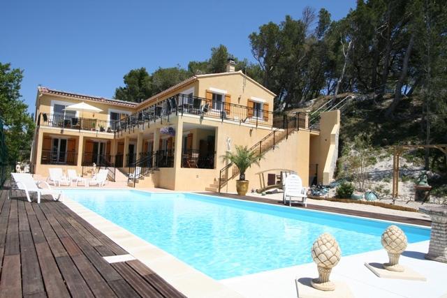 Villa la Pinede con piscina climatizada