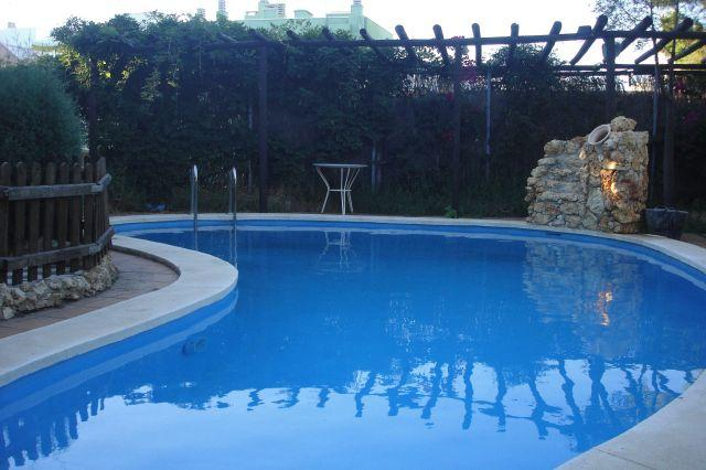 Salt water private outdoor pool