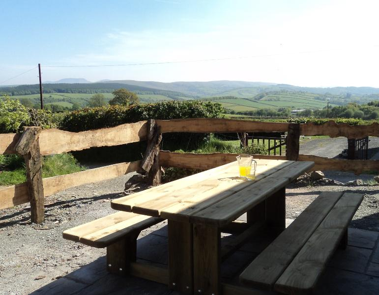 Patio view to Brecon Beacon Beacons National Park