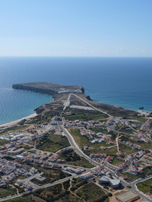 Sagres from the air - you too can microlight over this!
