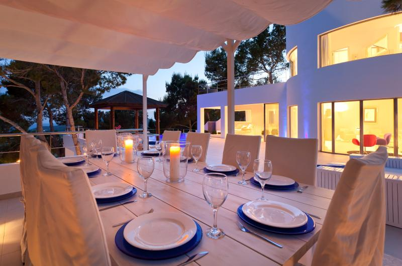 Pool Terrace Dining By Night