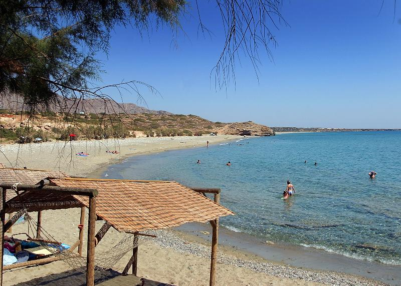Diaskari beach and taverna - a favourite spot for snorkelling