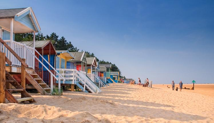 Iconic beach huts