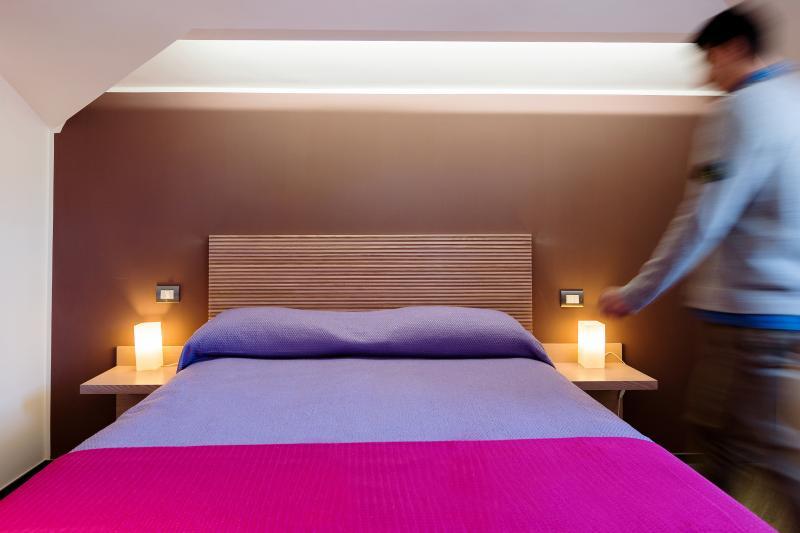 Furnished pink room