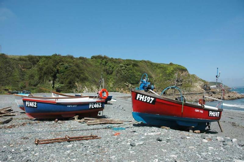 Boats at Porthallow Beach
