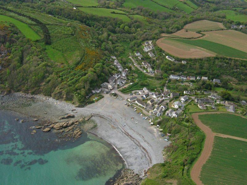 Aerial view of Porthallow